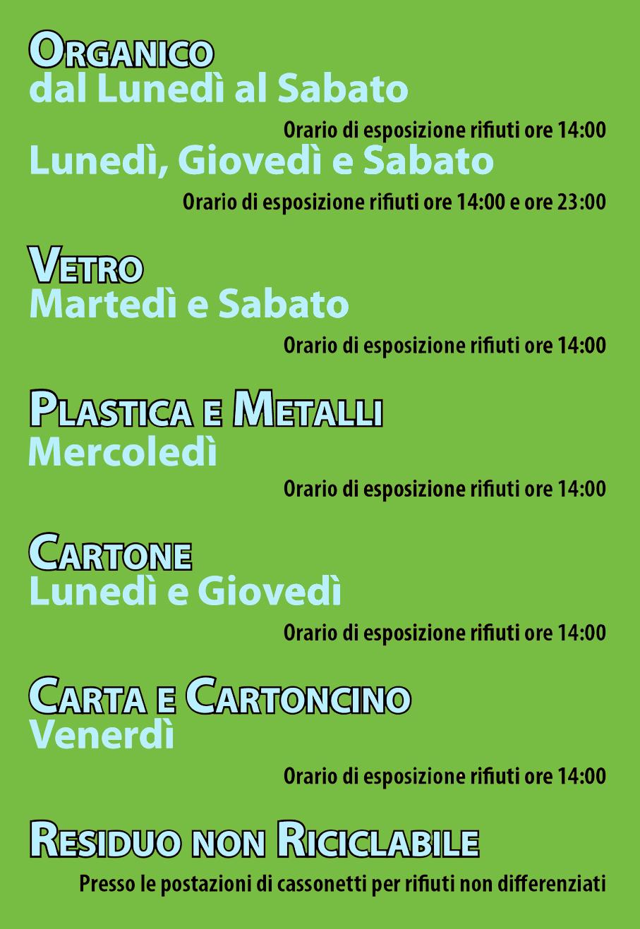 Raccolta Differenziata Palermo Calendario.Raccolta Differenziata Per Le Utenze Non Domestiche Di