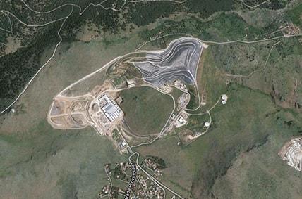 Veduta satellitare della discarica di Bellolampo