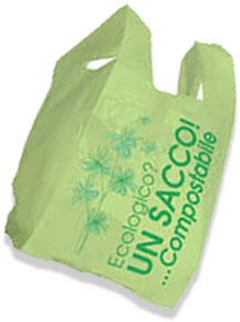 sacchetto biodegradabile compostabile per l'organico_raccolta differenziata_RAP Risorse Ambiente Palermo